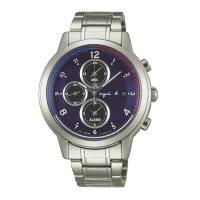 agnès b.到agnes b V172-0AX0B(BY6002P1)太陽能巴黎時尚計時腕錶/藍面42mm