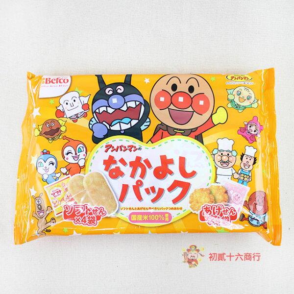 【0216零食會社】日本栗山-麵包超人綜合米果140g