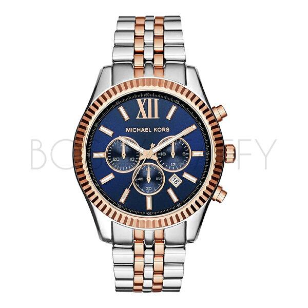 MK8412 MICHAEL KORS 三眼計時 不銹鋼 手錶 男錶