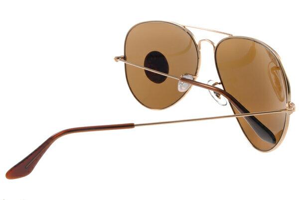 Ray Ban 雷朋 金邊茶色偏光 RB3025 太陽眼鏡 6