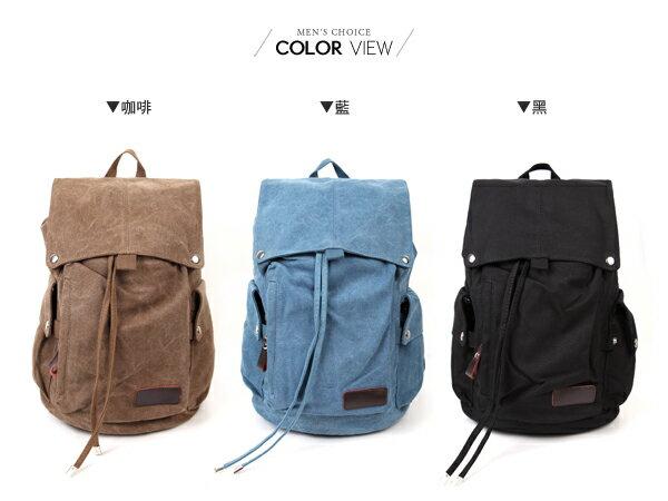 ☆BOY-2☆【NQA5075】後背包 休閒束口帆布後背包 1