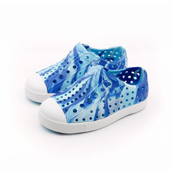 native 洞洞鞋 藍 小童 no551