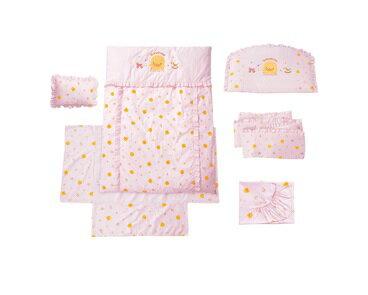 【特惠組】黃色小鴨嬰兒床+7件床被組(3色) 4