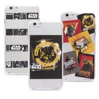 【Star Wars 】iPhone 6/6s 星際大戰時尚彩繪透明保護軟套-黑武士系列