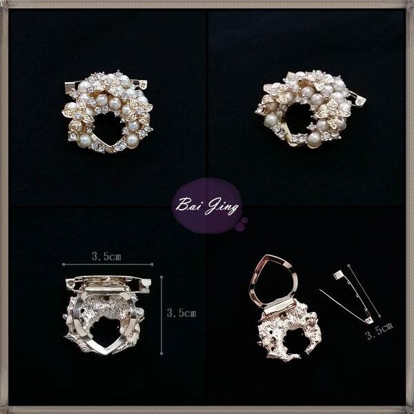 1650809【珍珠高雅】絲巾扣、別針