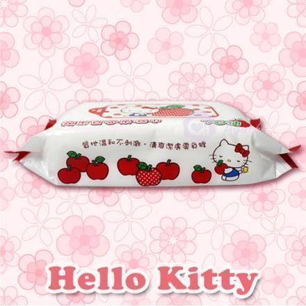 ☆Hello Kitty☆凱蒂貓 蘋果香氛柔濕巾/濕紙巾 70抽【亞古奇 Aguchi】 1