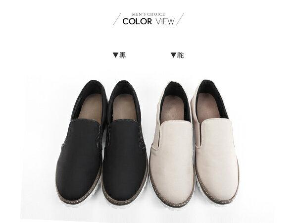☆BOY-2☆【NKP-FTP23】福樂鞋  撞色韓版簡約素面懶人鞋 1