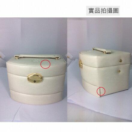 【亞古奇 Aguchi】Outlet 特賣品-皇家風範珍珠白☆時尚設計珠寶盒/戒盒/耳環盒☆ 01 2