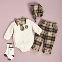 彌月禮盒推薦【金安德森】寶寶禮盒 - 紳士風小領帶套裝(卡色) (彌月禮盒)