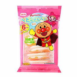 有樂町進口食品 日本進口 栗山米果 麵包超人迷你仙貝 6個月以上(14.4g/12枚) 4901336152486 0