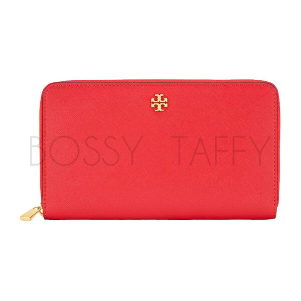 TORY BURCH 11169071 ROBINSON ZIP CONTINENTAL WALLET 紅色長夾