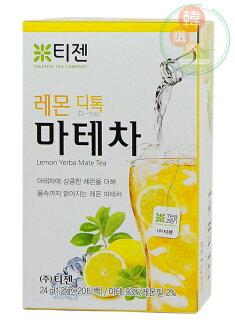 【韓購網】韓國TEAZEN茶禪檸檬瑪黛茶20入★韓國原裝進口