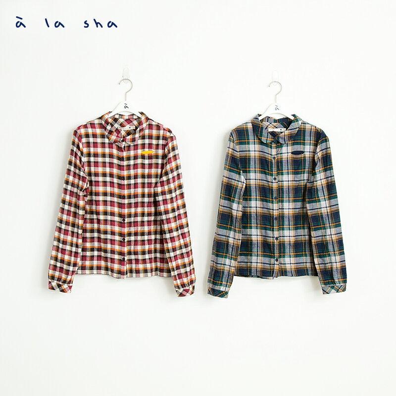 a la sha mucha 小口袋造型襯衫 2