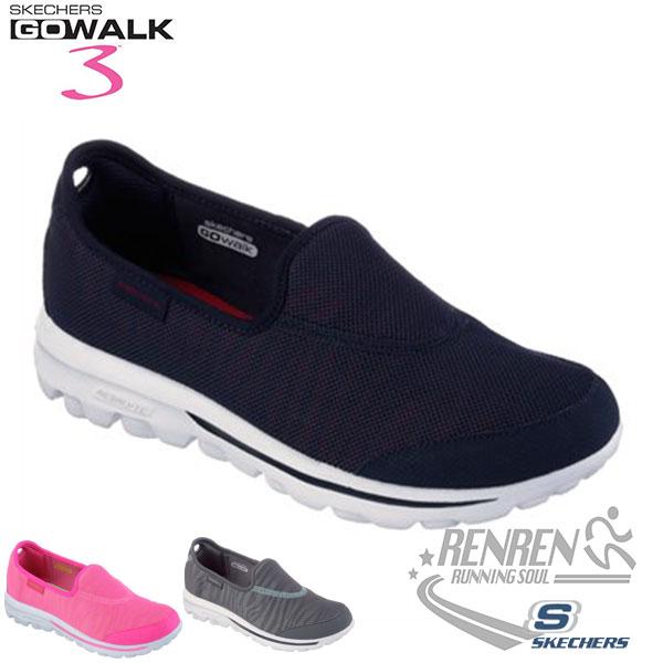 SKECHERS 女健走鞋GO WALK 3 (藍) 懶人鞋 運動鞋