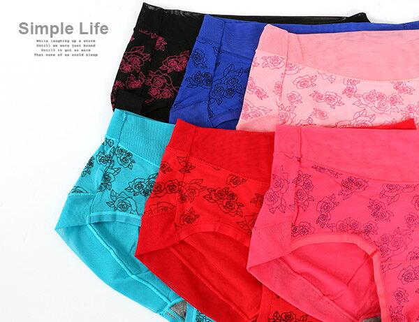 3件199免運【AJM】夜玫瑰低腰三角褲3件組(隨機色)L 1