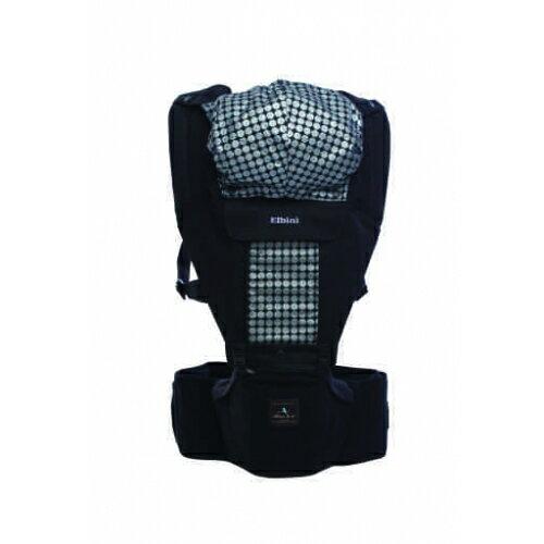 Elbini & co優寶兒 - 多功能嬰兒坐墊式背巾 (黑色) 韓國原裝進口 0