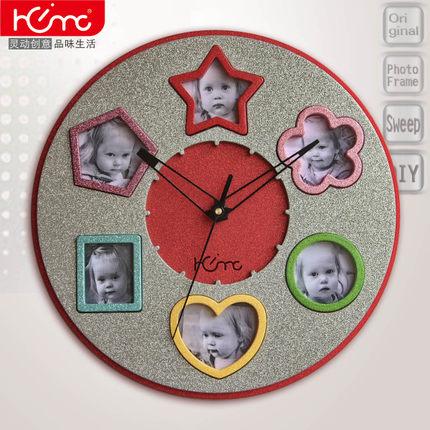 寶貝時鐘相框客廳兒童房創意歡樂谷照片百搭掛鐘十天預購+現貨