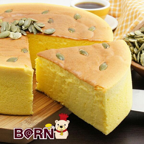 [伯恩乳酪工坊]❤8吋黃金南瓜乳酪❤伯恩頭家得意作品❤ 大量南瓜泥使用.使蛋糕體呈現金黃色 色香味俱全 兼顧健康養生