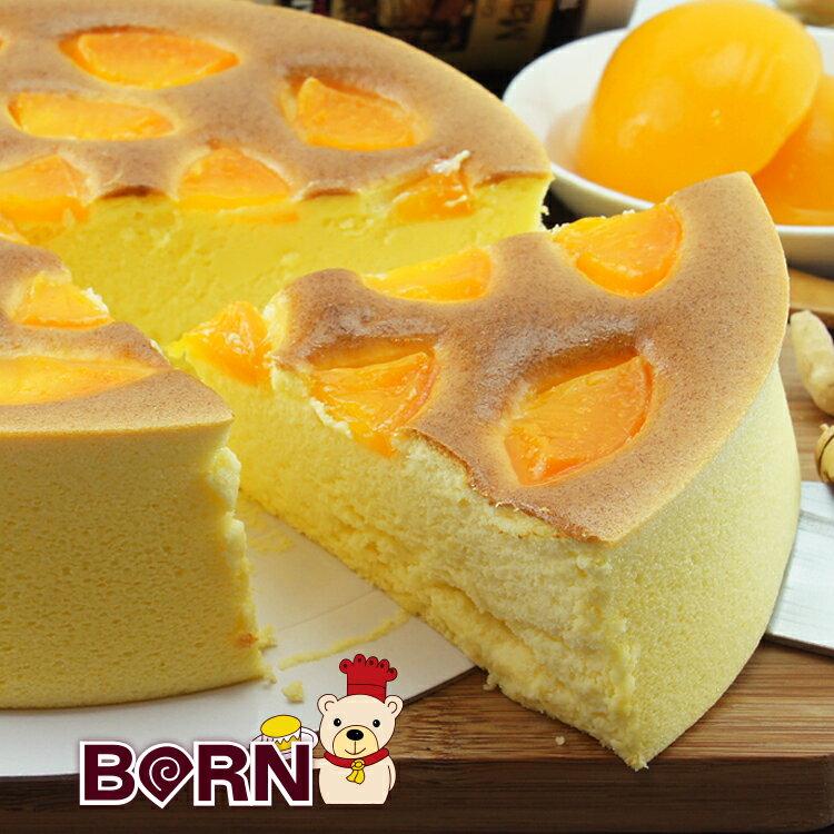 [伯恩乳酪工坊]❤每日限量12組❤8吋蜜桃乳酪❤厚切蜜桃果肉均勻鋪在蛋糕表面 一口咬下 果肉與蜜桃口味細緻綿密的蛋糕體結合 入口即化 蜜桃風味久久不散 0