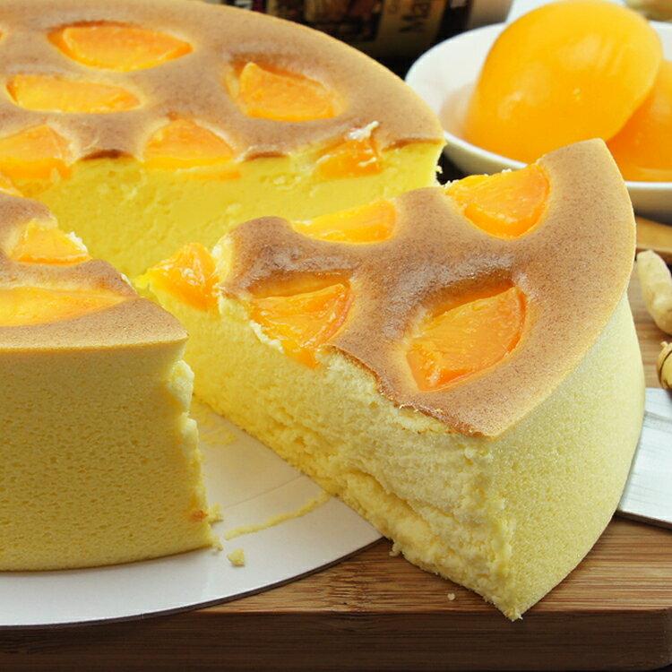 [伯恩乳酪工坊]❤每日限量12組❤8吋蜜桃乳酪❤厚切蜜桃果肉均勻鋪在蛋糕表面 一口咬下 果肉與蜜桃口味細緻綿密的蛋糕體結合 入口即化 蜜桃風味久久不散 3