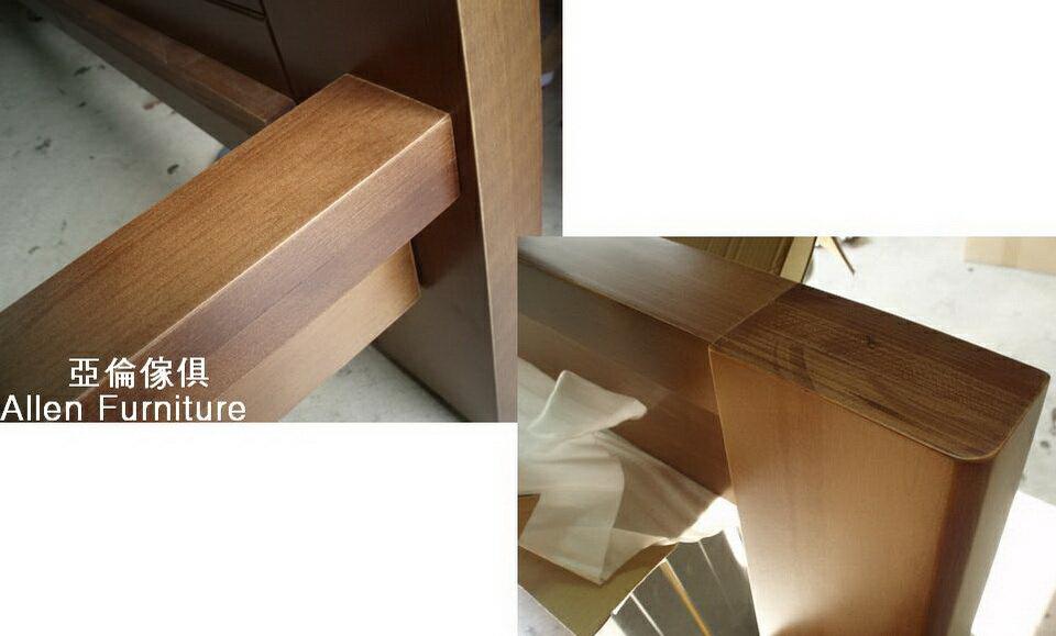 亞倫傢俱*山姆威爾6尺雙人加大南洋檜實木床架 3