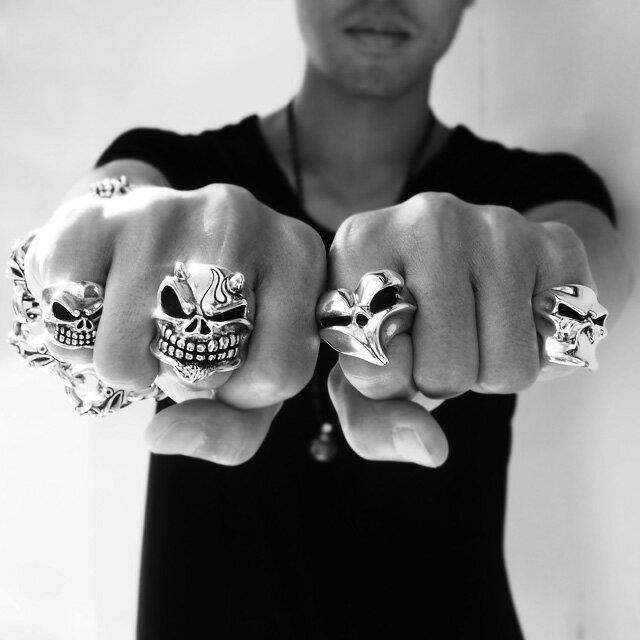 【海外訂購】【STARLINGEAR】Styler 隱身骷髏純銀戒指(STR001Mar) 4