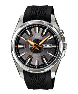 CASIO EDIFICE EFR-102-1A5膠帶運動腕錶/黑面43.6mm