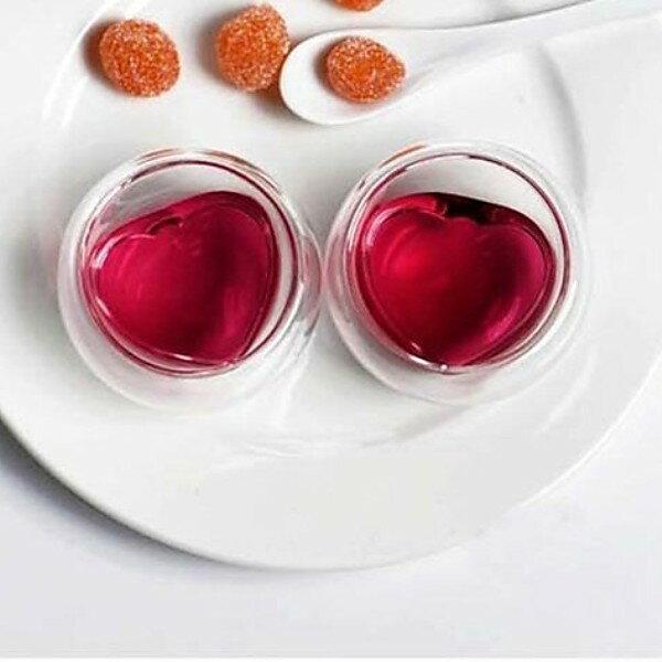 【自在坊】 雙層玻璃杯  心型款(50ml)  賞茶杯茶具 茶杯 隔熱品茗茶杯 每個50元   買五贈一