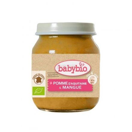 『121婦嬰用品館』法國 Babybio 有機蘋果莎梨鮮果泥(130g/4M+) 0
