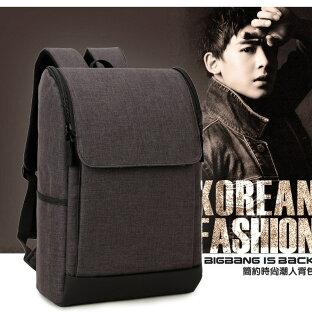【瞎買天堂x現貨供應】雙拉鍊掀蓋後背包 電腦包 14吋筆電 書包【BGAA0219】
