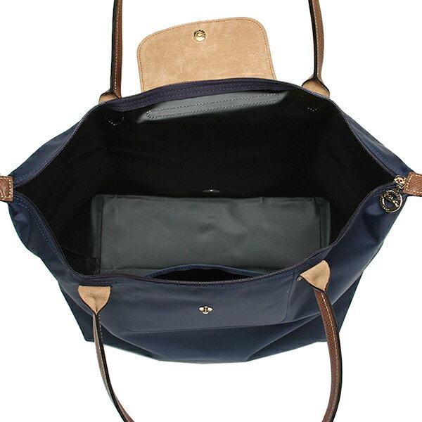 [長柄M號]國外Outlet代購正品 法國巴黎 Longchamp [1899-M號] 長柄 購物袋防水尼龍手提肩背水餃包 海軍藍 2