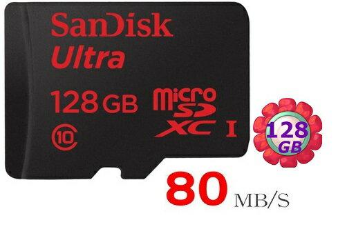 SanDisk 128GB 128G microSDXC【80MB/s】Ultra microSD micro SD SDXC UHS UHS-I Class 10 C10 原廠包裝 記憶卡 手機記憶卡