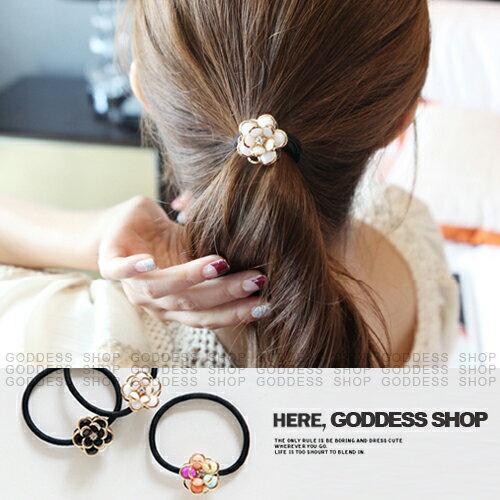 任3件128-嘉蒂斯髮飾 韓風彩色花朵壓克力髮圈【S0023】3色 現貨+預購