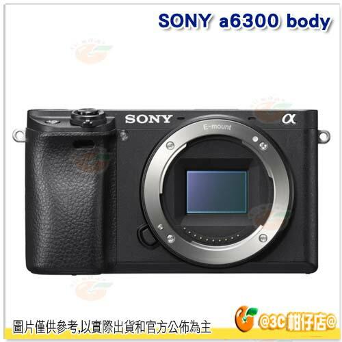 送Sandisk 64G +電池*2+LCS-BBF 相機包等好禮 SONY A6300 BODY ILCE-6300 單機身 台灣索尼公司貨18+6個月保固 A6000 下一代