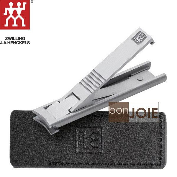 ::bonJOIE:: 德國雙人牌 超薄雅致指甲鉗 (指甲剪、指甲刀) 含高級皮套 (壓克力套封裝) TWIN 袖珍薄型指甲剪