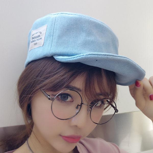 遮陽帽 棒球帽 潮帽【C1085】棒球帽-平頂可折疊側邊小標軟帽 艾咪E舖 休閒帽 男女皆可 0