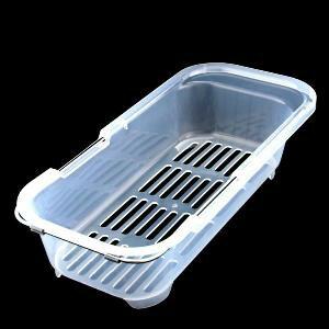 【珍昕】 皇家流理台伸縮籃 / 餐盤瀝水收納架