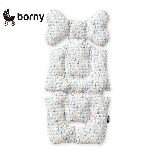 韓國【 Borny 】 全身包覆墊(推車、汽座、搖椅適用)(藍線筆) - 限時優惠好康折扣