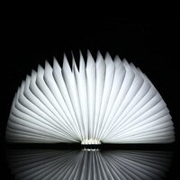 【 樂客生活 】折疊書燈 創意LED折疊燈 可充電夜燈 折紙燈木質LED書本燈