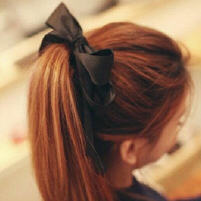 【AA-6031】韓系 簡約氣質甜美緞帶蝴蝶結髮束