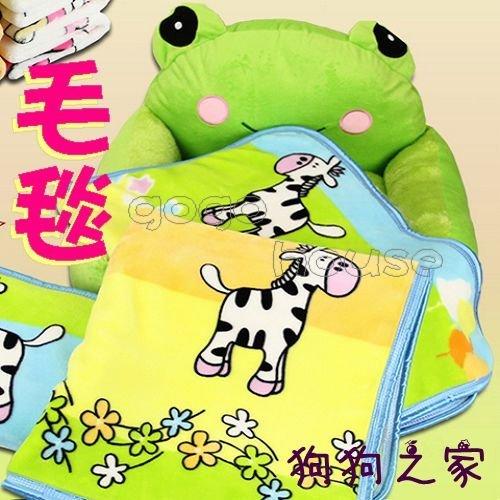 ☆狗狗之家☆超厚款法蘭絨寵物毛毯 可愛卡通墊子 空調毯子
