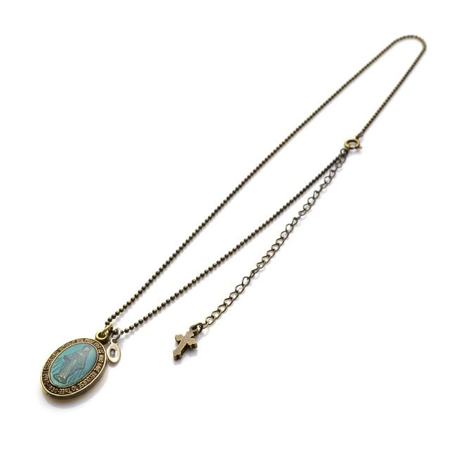 【海外訂購】【amp japan】彩繪玻璃瑪麗亞項鍊(AMP-11AD-300-Blue  0600410002) 1