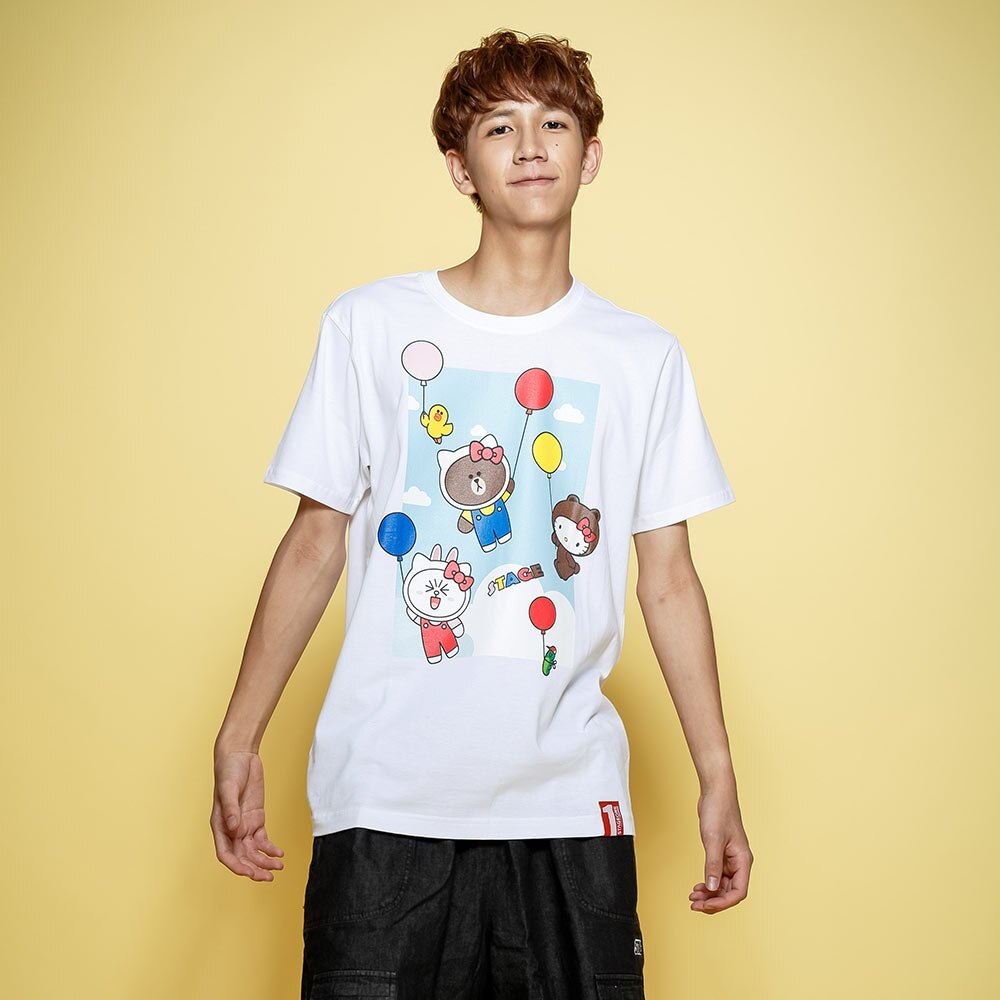 STAGE x HELLO FRIENDS 聯名限定 STAGE COLOR BALLOON TEE 1