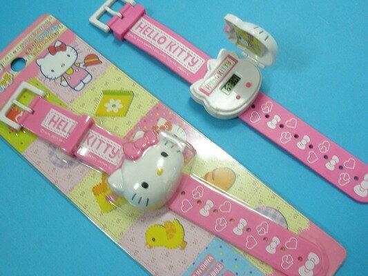 Hello Kitty 凱蒂貓電子錶 立體頭型兒童電子錶 兒童錶-粉+桃紅(內附電池)/一個入{促199} 凱蒂貓手錶 KT電子錶 授權商品A292