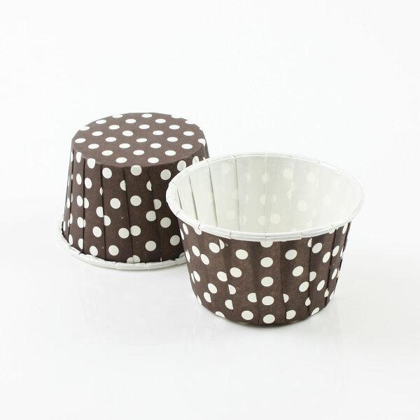 瑪芬杯、杯子蛋糕、捲口杯 PET5039-04 圓點咖啡(100pcs/包)