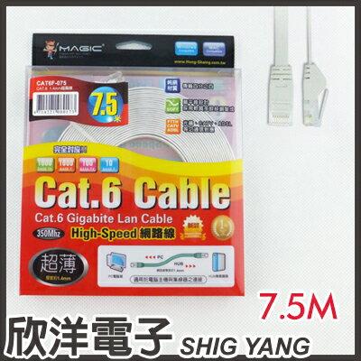 ※ 欣洋電子 ※ Magic 鴻象 Cat6 High-Speed 超薄網路線7.5米/7.5M (CAT6F-075)/台灣製造