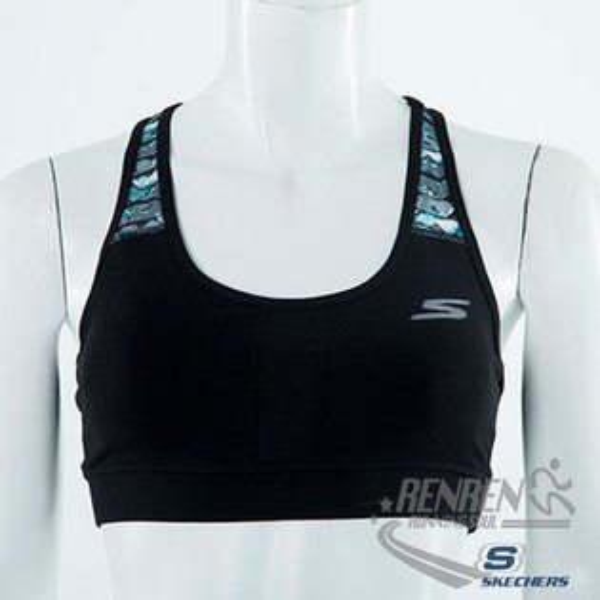 SKECHERS 女 運動內衣 (黑色) 運動 慢跑用 無鋼圈束縛穿著舒適