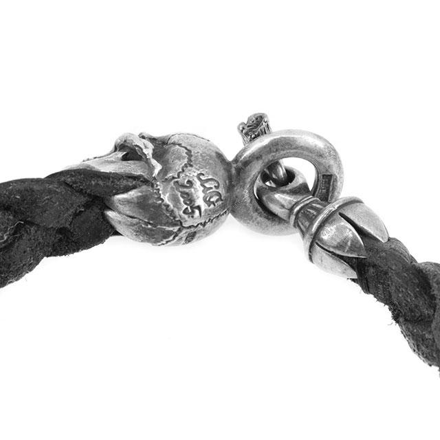 【海外訂購】【MAD CULT】螺旋骷髏真皮皮革手環(MAD-LB-03) 2