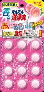 日本小林製藥 洗淨丸 浴廁 廚房水管清潔發泡錠 5.5g*12錠 水蜜桃香 *夏日微風*