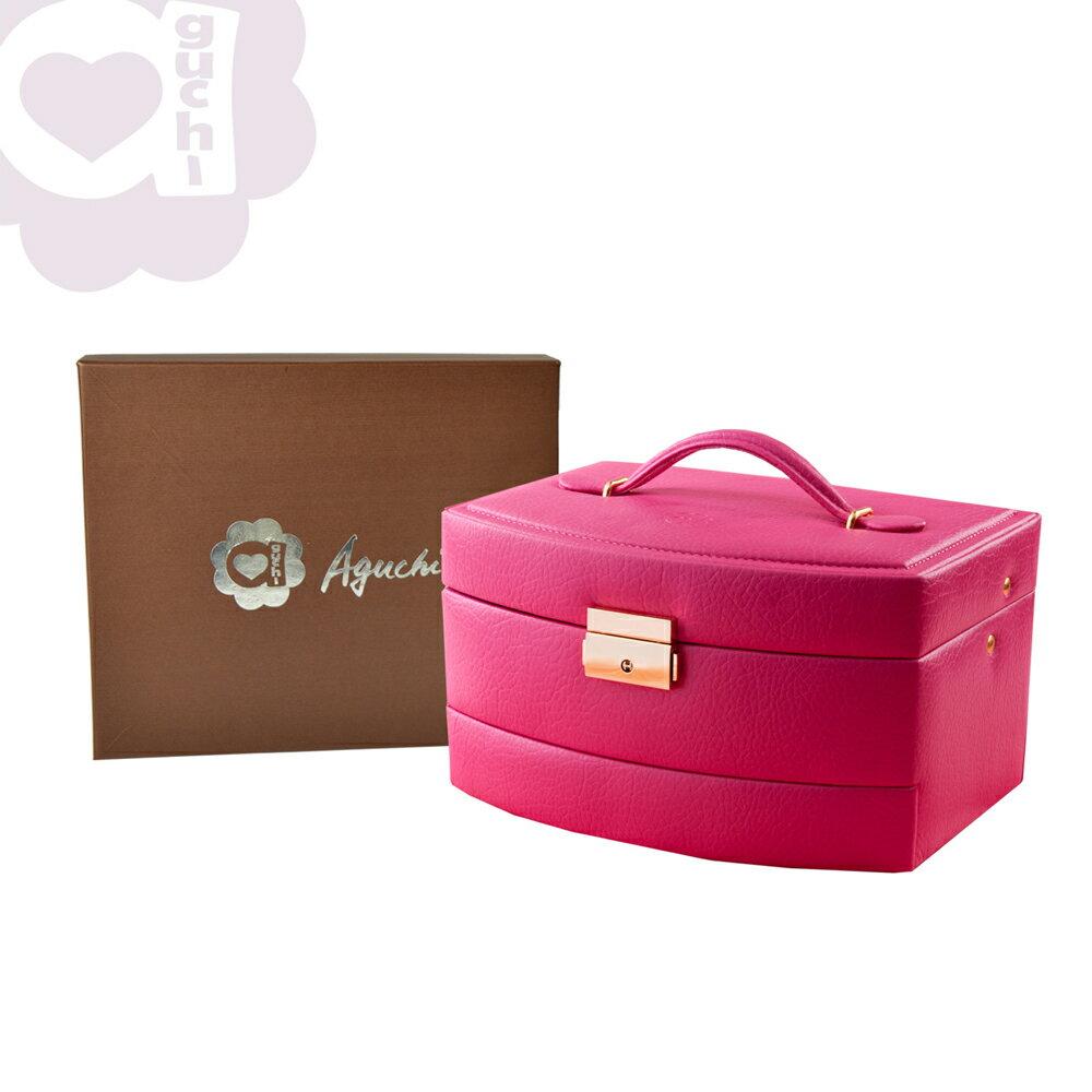 【Aguchi 亞古奇】皇家風範-櫻桃紅 (氣質貴族系列) 珠寶盒 2